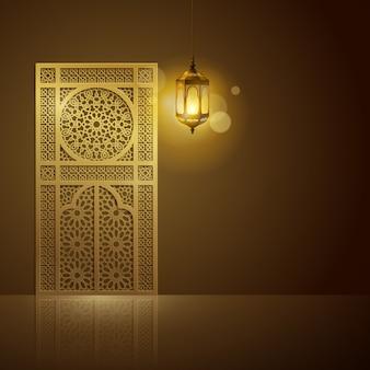 Design de fundo saudação islâmica para o ramadã