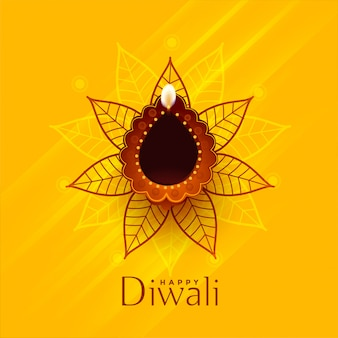 Design de fundo tradicional criativo feliz diwali