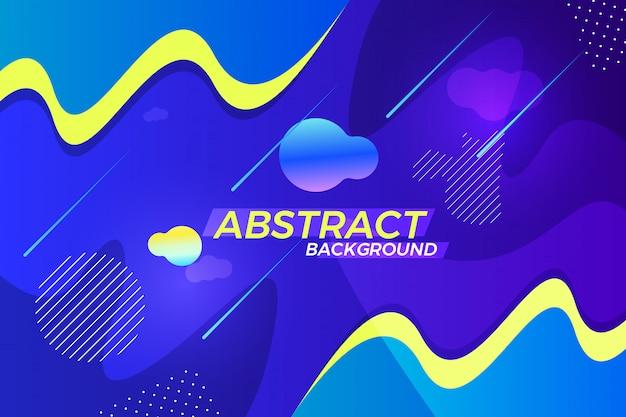 Design de fundo vector abstrata criativa com formas diferentes