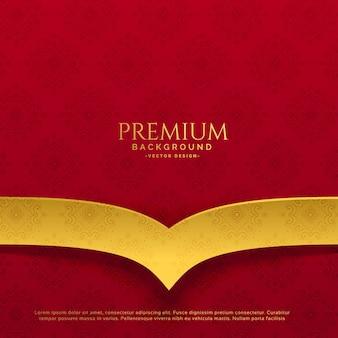 Design de fundo vermelho e dourado premium