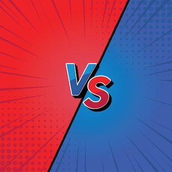 Design de fundo versus vs fight