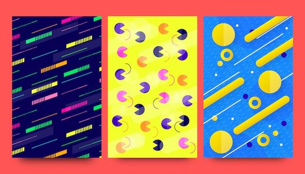 Design de fundos abstratos moderno padrão criativo