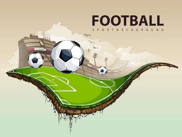 Design de futebol criativo