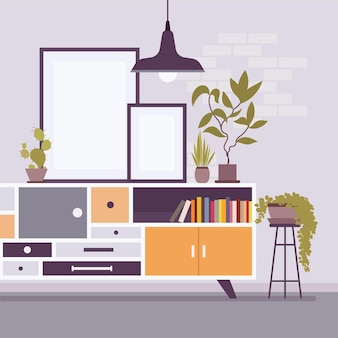 Design de gabinete, gavetas para amplo armazenamento