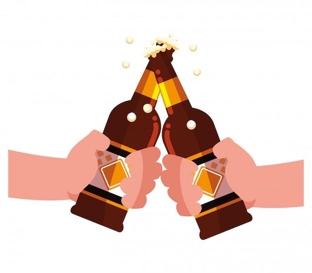 Design de garrafa de cerveja