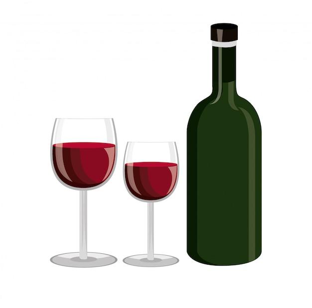 Design de garrafa de vinho.