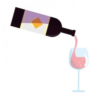 Design de garrafa de vinho