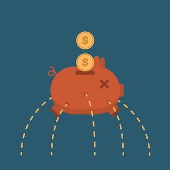 Design de gastar dinheiro