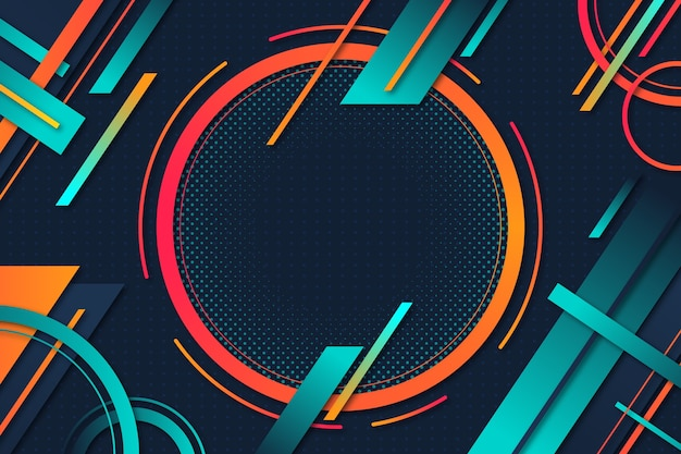 Design de gradiente de fundo de formas geométricas