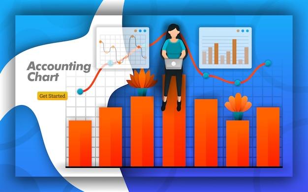 Design de gráfico contábil para web e cartaz