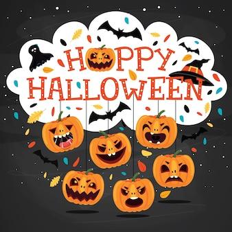 Design de halloween com personagem de desenho animado