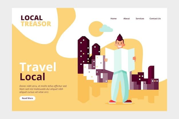 Design de homepage de turismo local
