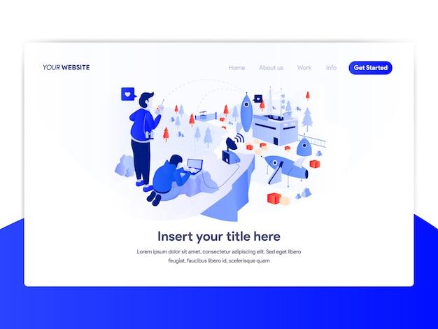 Design de homepage do conceito de negócio de inicialização