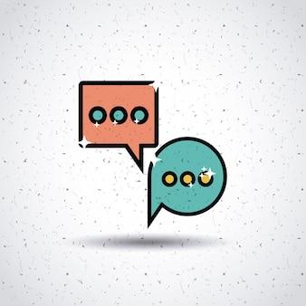 Design de ícone de bate-papo