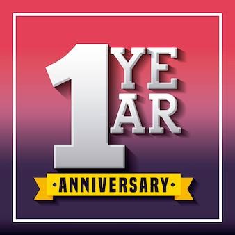 Design de ícone de cartão de aniversário