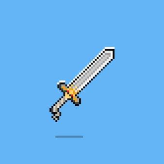 Design de ícone de espada de pixel art