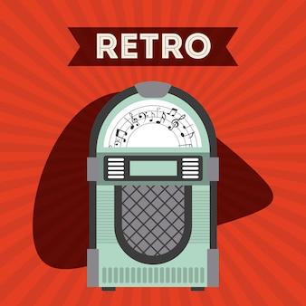 Design de ícone de estilo retro, gráfico de vetor ilustração eps10