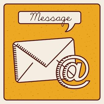 Design de ícone de mensagem, gráfico de vetor ilustração eps10