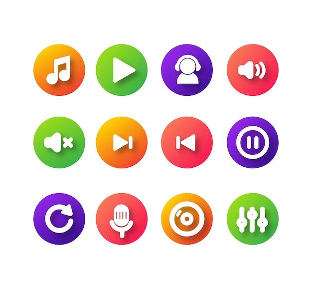 Design de ícone de música simples