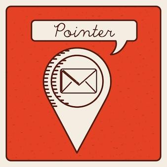 Design de ícone do ponteiro, gráfico de vetor ilustração eps10