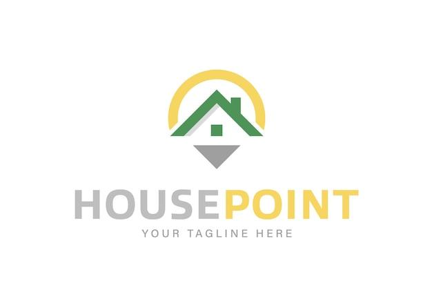 Design de ícone e logotipo de ponto inicial simples