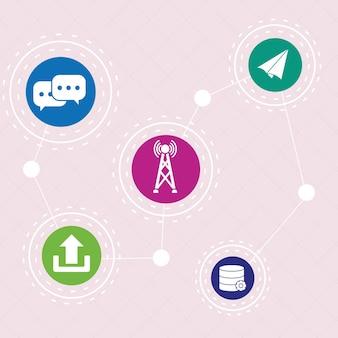 Design de ícones de comunicação