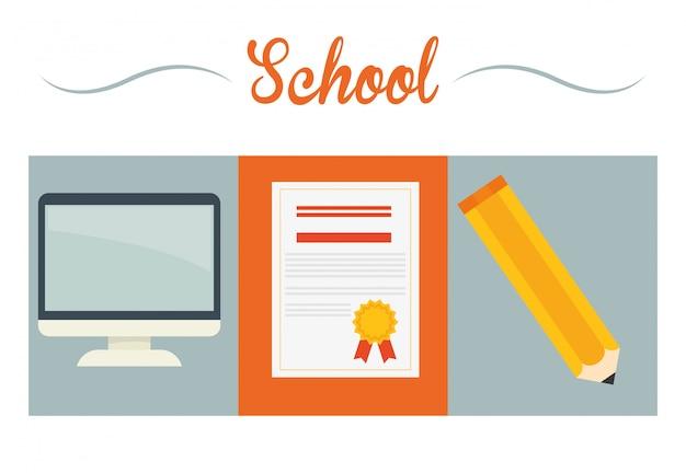 Design de ícones de educação