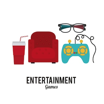 Design de ícones de entretenimento