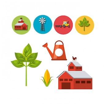 Design de ícones de fazenda