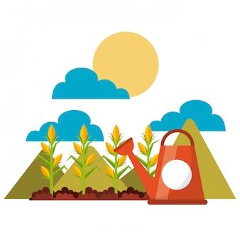 Design de ícones de jardinagem