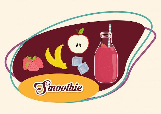 Design de ícones de smoothie