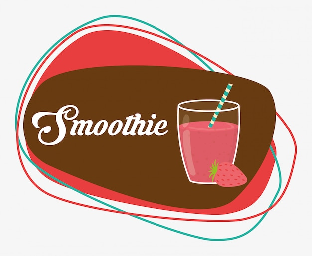 Design de ícones de smoothie