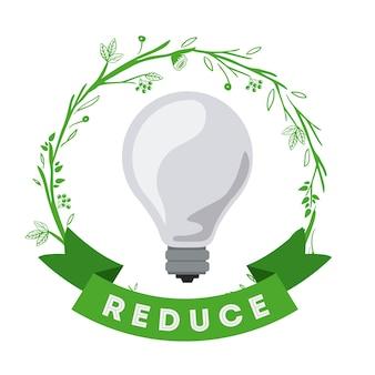 Design de idéias amigáveis de eco Vetor Premium