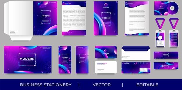 Design de identidade visual corporativa premium
