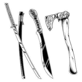 Design de ilustração de armas