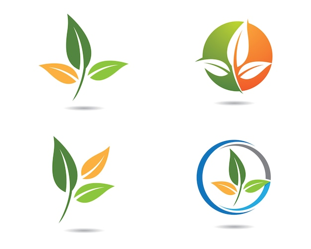 Design de ilustração de logotipo de ecologia