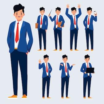 Design de ilustração de poses de personagens