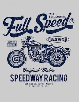Design de ilustração de velocidade total
