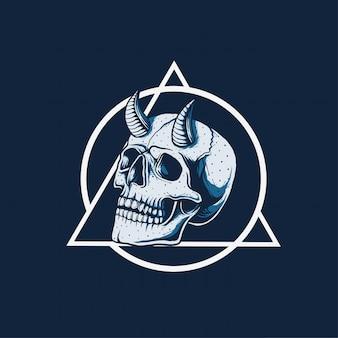 Design de ilustração do círculo da morte