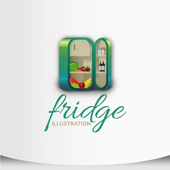 Design de ilustração do refrigerador