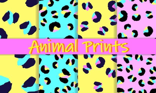 Design de impressão de leopardo. pele de animal. padrão sem emenda.