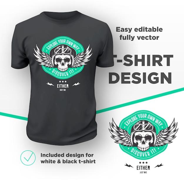 Design de impressão vintage do clube de motociclistas americanos