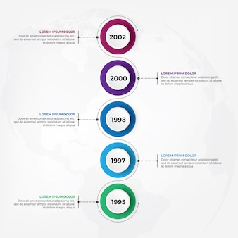 Design de infográfico de cronograma vertical