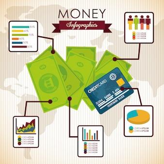 Design de infográfico de dinheiro.
