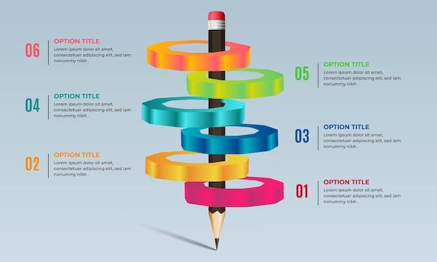 Design de infográfico educacional 3d