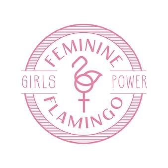 Design de insígnia de flamingo feminino