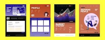 Design de interface de apresentação e site
