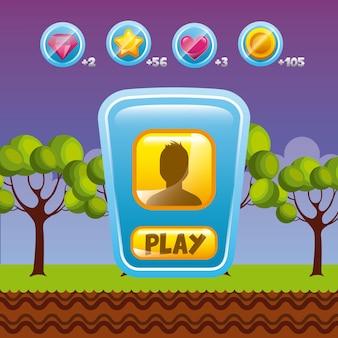 Design de interface de videogame