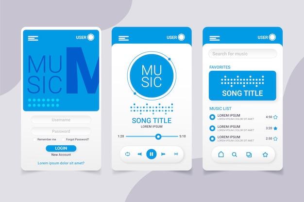 Design de interface do aplicativo music player