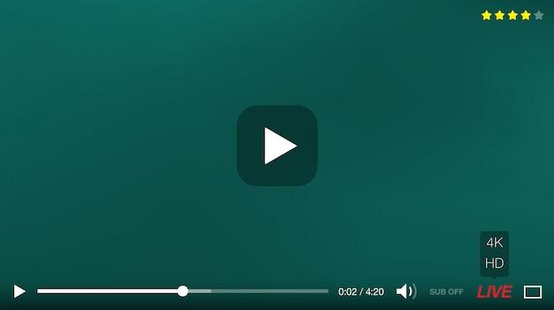 Design de interface do player de vídeo
